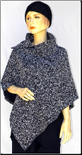ZA251PONCHO Black/Grey