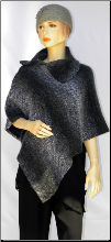 ZA252PONCHO Black/Grey